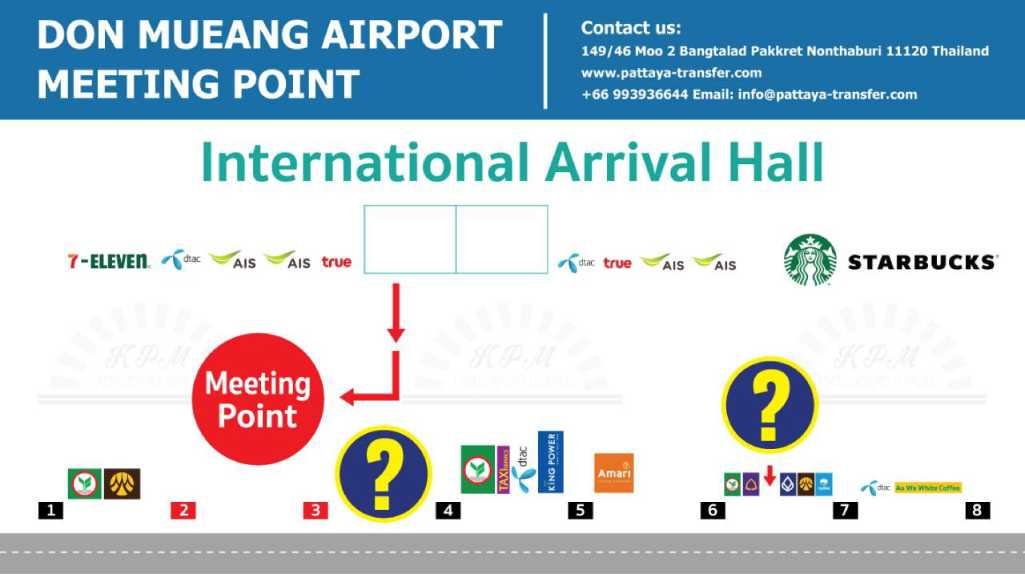taxi DMK BKK: international meeting point GATES 3
