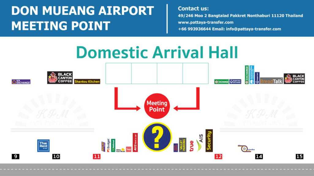 taxi DMK BKK: domestic meeting point GATES 11